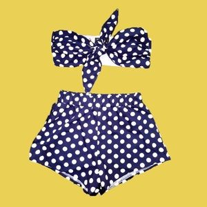 OMIGHTY Polka Dot Two Piece Pin Up Set